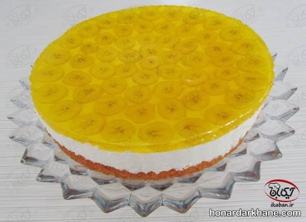 تزیین چیز کیک با موز