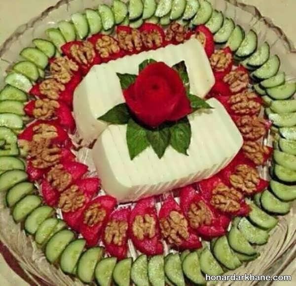 تزیینات پنیر و گوجه خیار