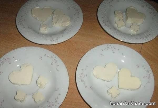 تزیین ساده پنیر