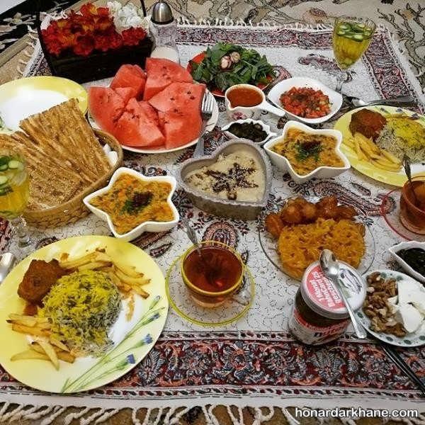 عکس سفره افطاری