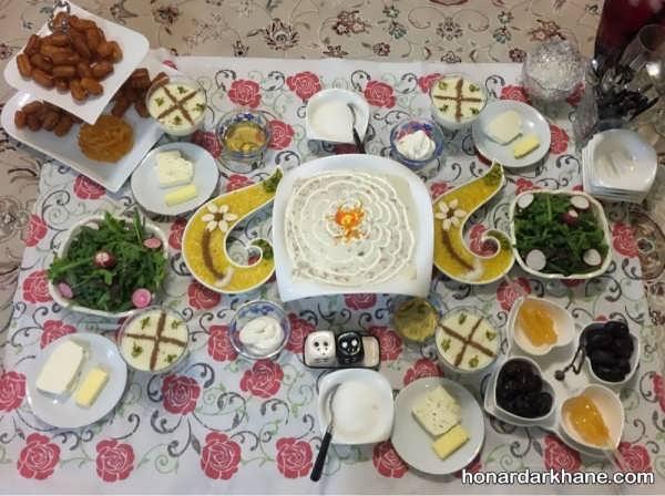 سفره افطار ماه رمضان