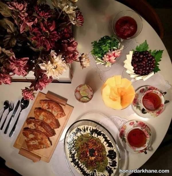 تزیین میز برای افطار