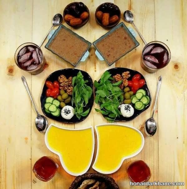 تزیین سفره افطار ماه رمضان