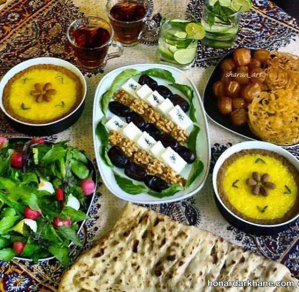 تزیینات سفره افطار ماه رمضان