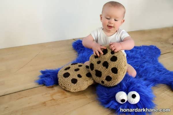 دوخت زیرانداز با پارچه خز برای نوزاد