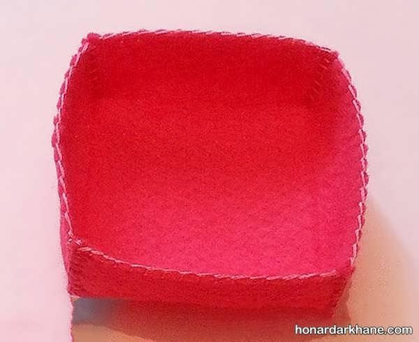 ساختن جعبه کادو پارچه ای