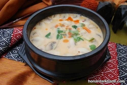آموزش پخت سوپ شیر و خامه