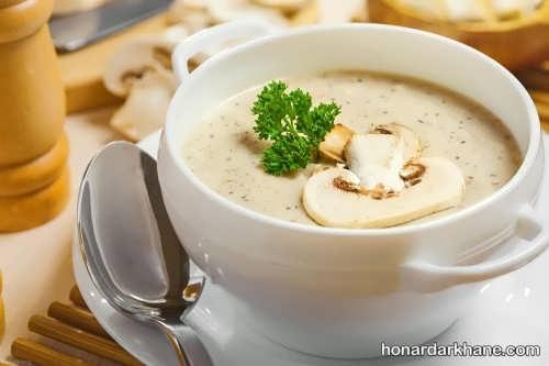 دستور پخت سوپ شیر و قارچ