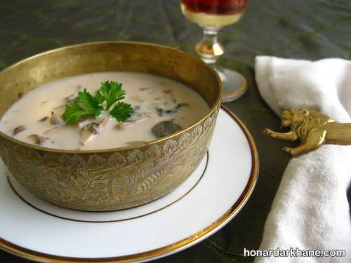 تزیین سوپ شیر