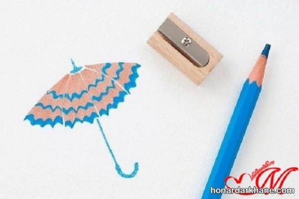 کاردستی با تراشه مداد