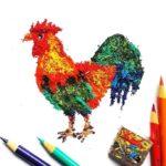 نقاشی با تراشه های مداد