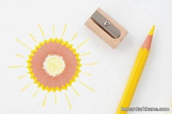 کاردستی با تراشه های مداد