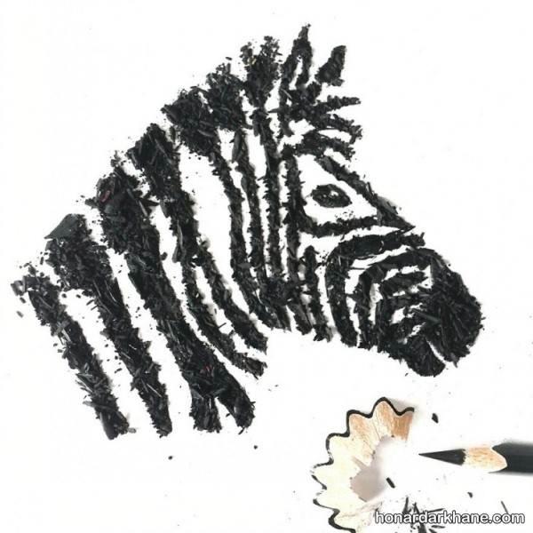 نقاشی با تراشه مداد