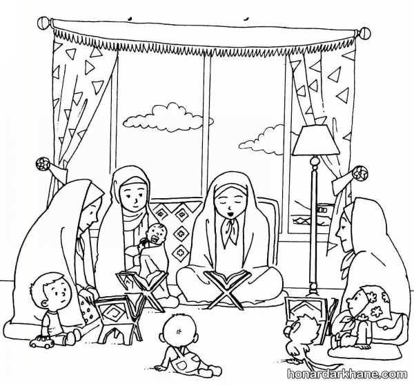 نقاشی کودکان در مورد ماه رمضان