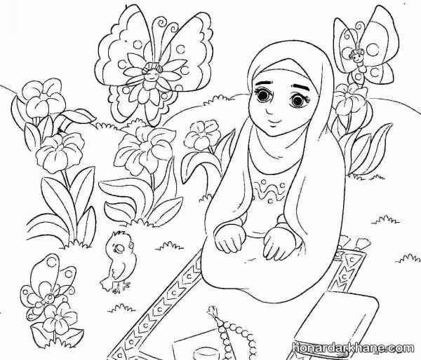 نقاشی درباره نماز خوندن