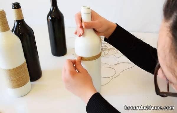 خلاقیت با بطری شیشه ای
