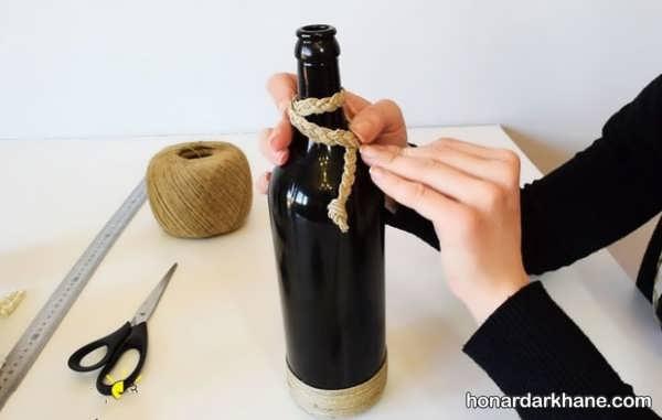 ساخت گلدان تزیینی با بطری