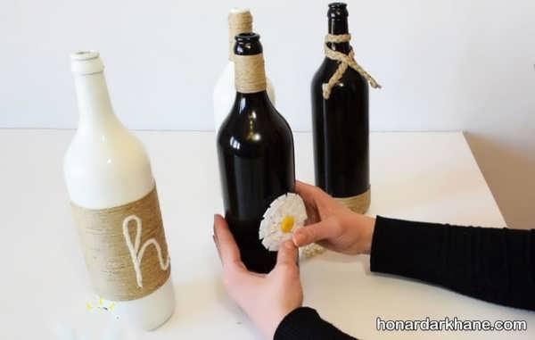 کاردستی خلاقانه با بطری