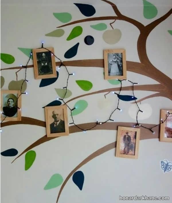 تزیین زیبای دیوار با عکس