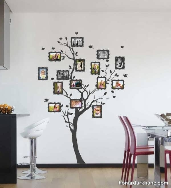 تزیین دیوار زیبا با عکس