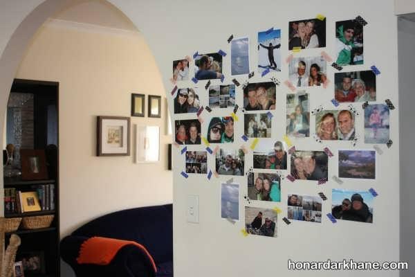 تزیین دیوار اتاق خواب با عکس