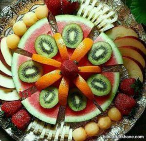 تزیین میوه با ایده های جدید