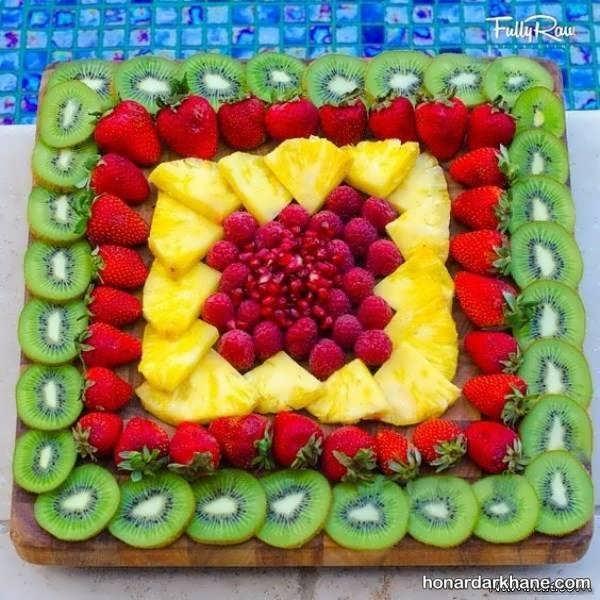 تزیین برش های میوه برای پذیرایی