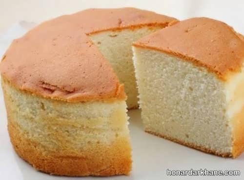کیک اسفنجی خوشمزه