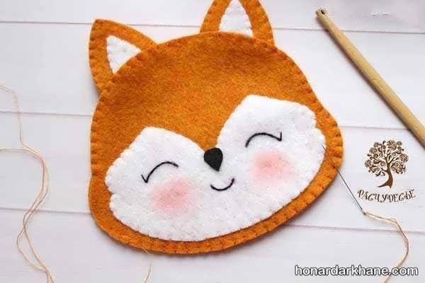 آموزش عروسک نمدی روباه