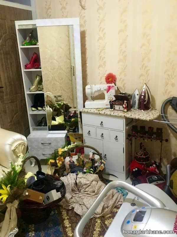 تزیین اتاق خواب عروس ایرانی