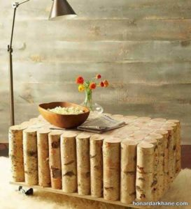 ساخت میز با چوب درخت