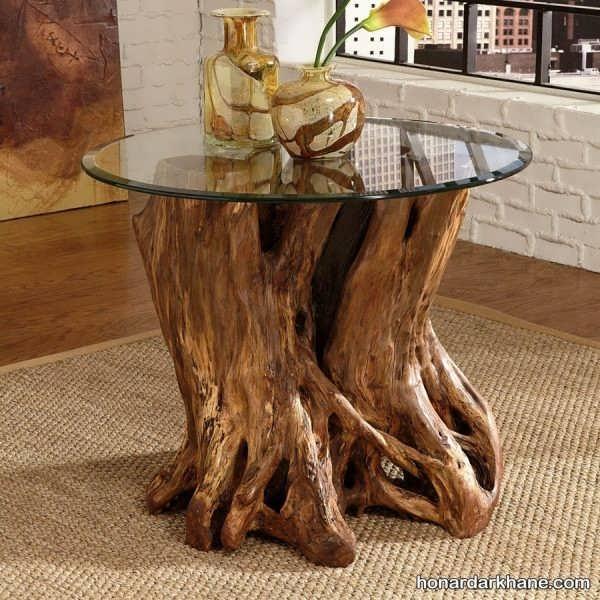 ساخت میز با تنه درخت