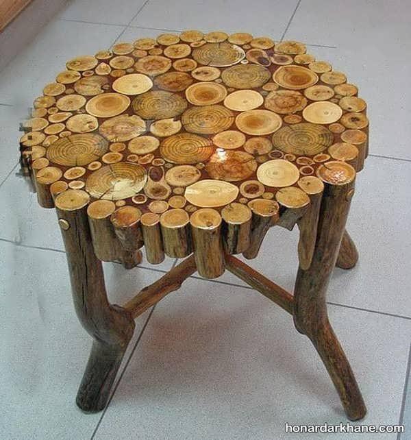 ساخت میز با تکه های چوب