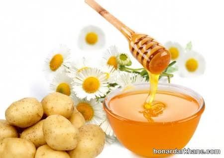ماسک عسل و سیب زمینی برای لک صورت