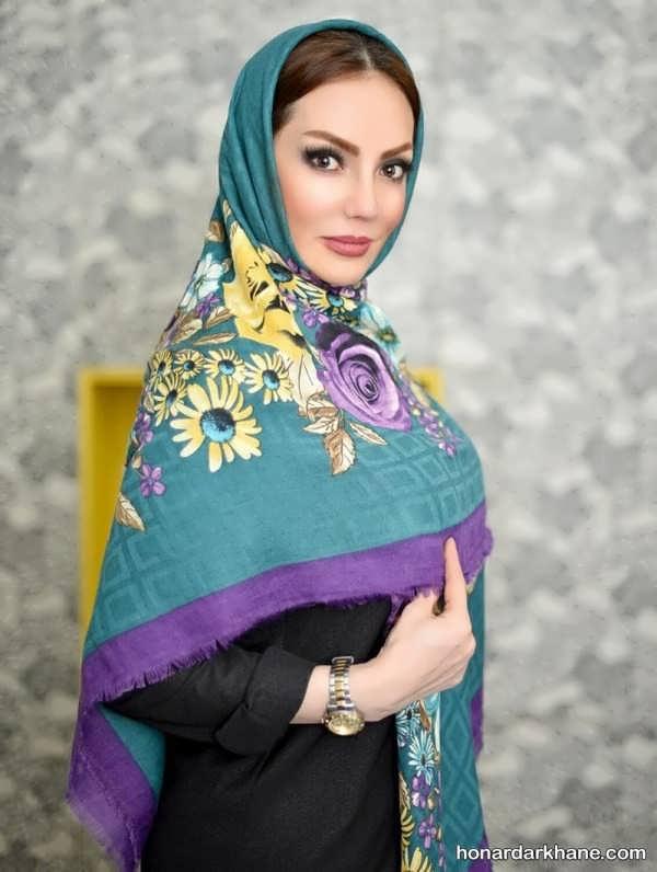 مدل بستن روسری بازیگران