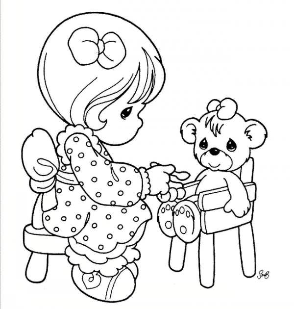 رنگ آمیزی دختر برای کودکان