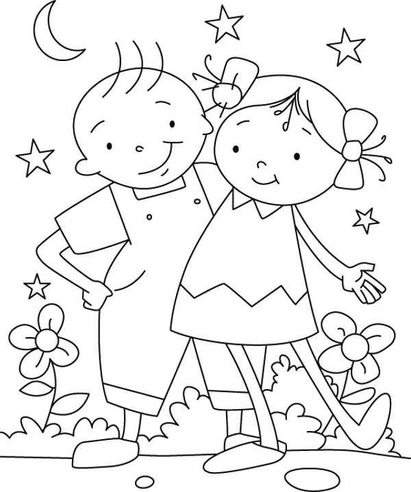 مدل رنگ آمیزی دختر و پسر کودکانه