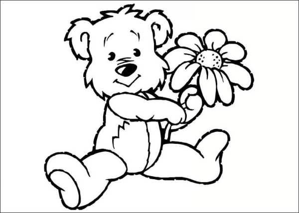 رنگ آمیزی خرس برای بچه ها