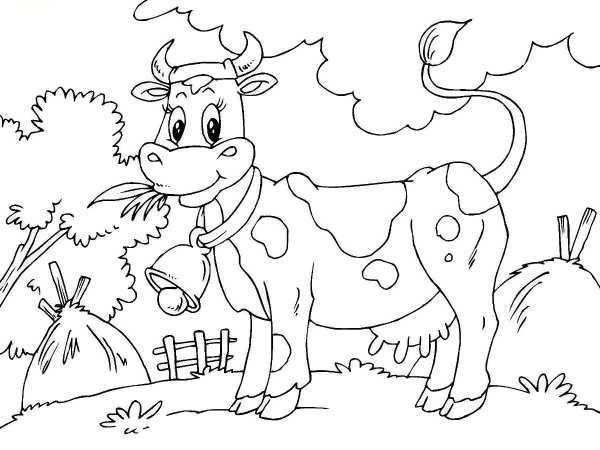 رنگ آمیزی گاو برای بچه ها