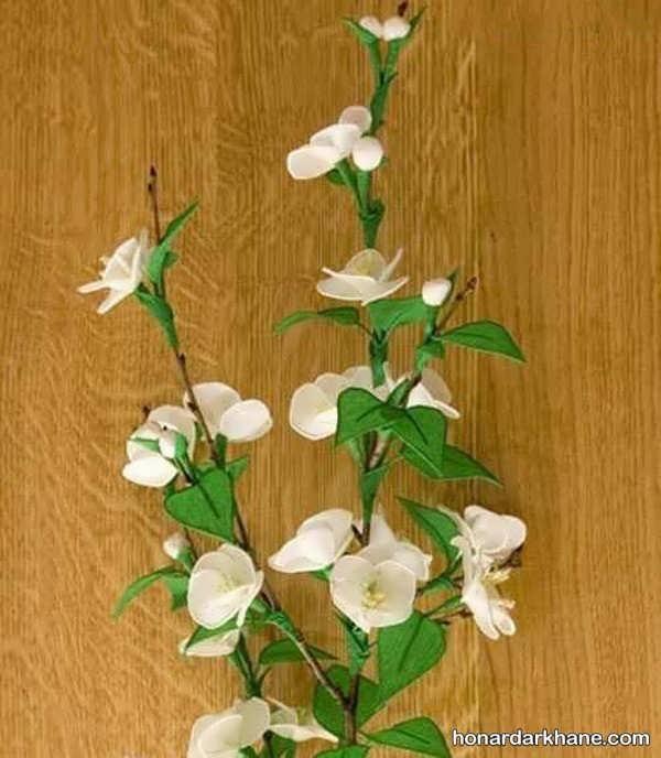 ساخت شاخه گل با کاغذ کشی