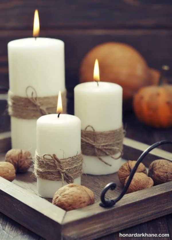 آموزش تزیین شمع ساده