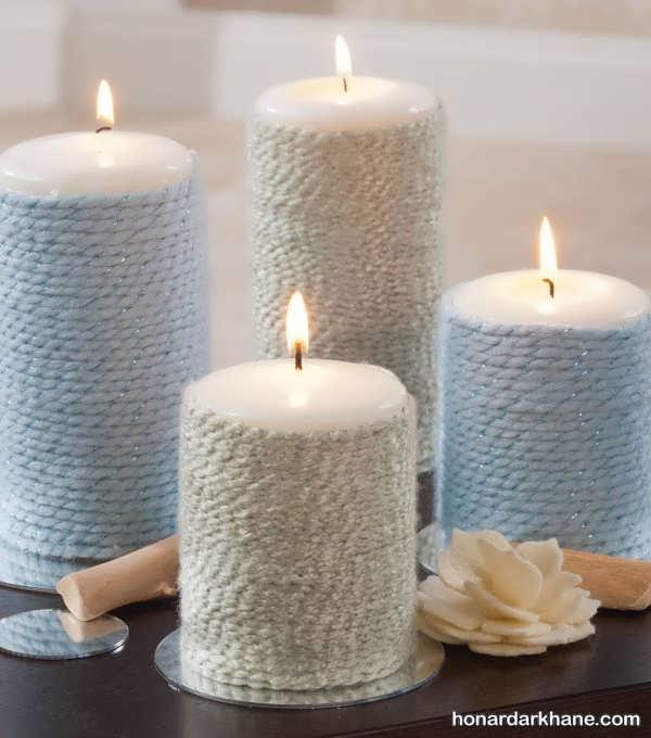تزیین شمع شیک و زیبا