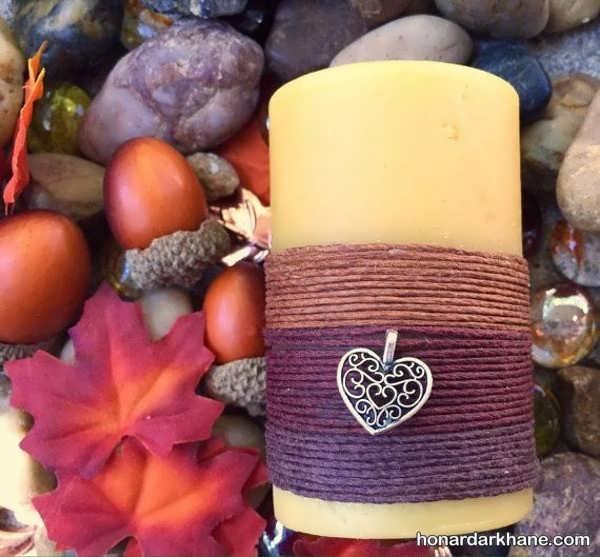 تزیین شمع های زیبا