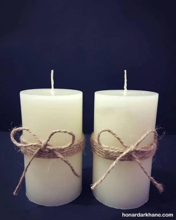 شمع آرایی زیبا با کنف