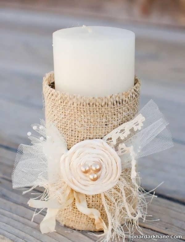 تزیین شمع ساده و زیبا