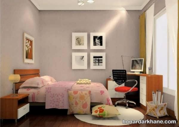 چیدمان اتاق خواب با وسایل ساده
