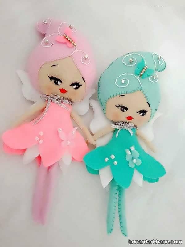 عروسک سازی با نمد رنگی