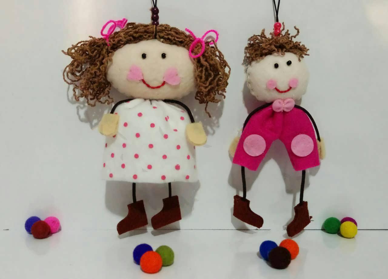 سرویس آشپزخانه نمدی عروسک سازی با نمد و ایده هایی برای ساخت عروسک های نمدی
