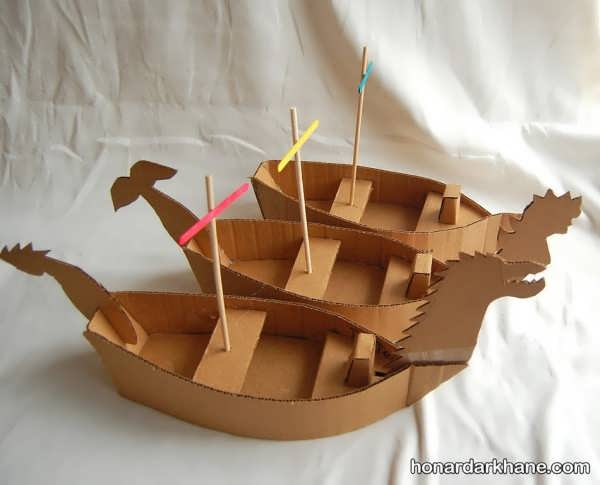 کاردستی کشتی با کارتن