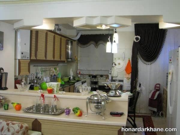 تزیین آشپزخانه عروس رنگی
